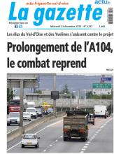 Gazette du val d'Oise 23/12/2020 : page de couverture