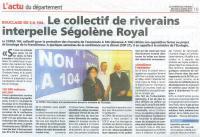 Le Courrier des Yvelines du 21 octobre 2015 suite à Conférence de presse COPRA 184 du 15 octobre